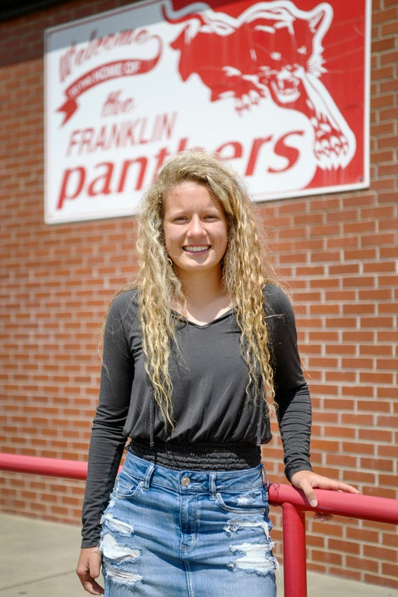 Franklin soccer player Brandy Dills lost her father during the soccer season but continued to play and practice. Dills and her father, Kevin, bonded over practicing soccer together.