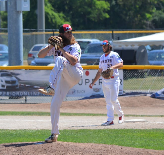 Pitcher Jordan Rhodes will return for a second season with the Battle Creek Bombers.