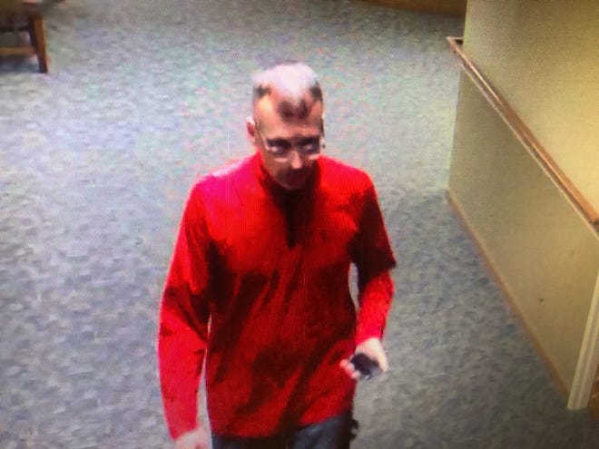 This man is a suspect in the theft from a resident's room at North Point Woods on Sunday.