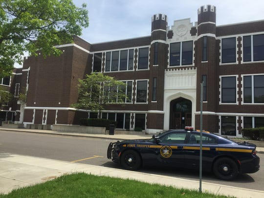 Law enforcement converged on Union-Endicott High School on Wednesday, May 23, 2019, after an unauthorized entry to the building.