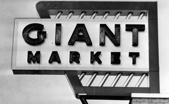 Giant Market sign circa 1958.