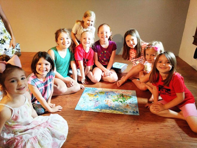 Elementary aged campers take a break from dance and music activities at last year's half-day camp to Black Mountain Center for the Arts.