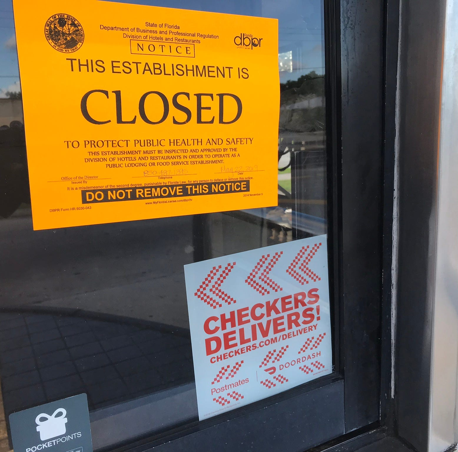 Restaurant inspections: Checkers in Palm Bay temporarily closed because of 'rodent activity'