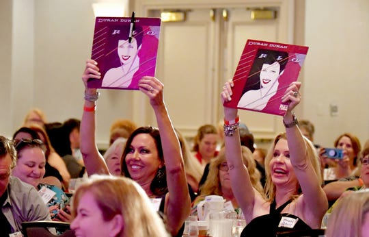 Several fans in the audience brought Duran Duran merchandise with them, including Bev Wild and Dawn Dally  Simon Le Bon, lead singer of the British music group Duran Duran, was the special luncheon guest at the 2019 Cultural Summit, presented by Brevard Cultural Alliance, at the Hilton Melbourne Rialto Place. Le Bon joined Greg Pallone of Spectrum News 13 for a conversation, followed by an audience Q&A.