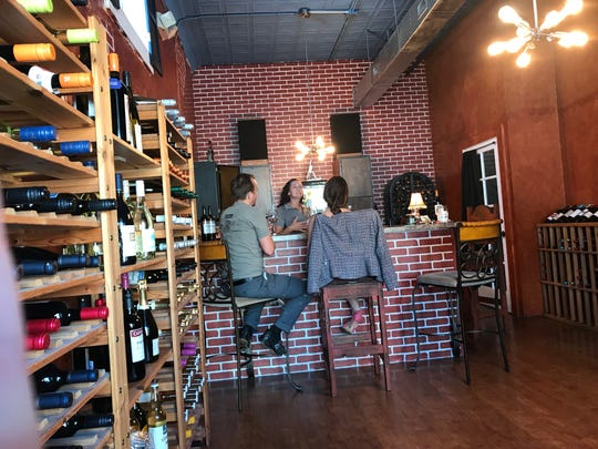 Foxwood Wine Co. shares a building with Maxine's Salon & Spa in the Eau Gallie Arts District.