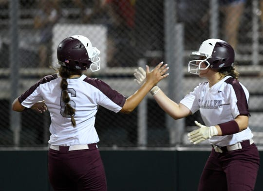 Calallen and Flour Bluff play their first game in the Class 5A regional final series, Wednesday, May 22, 2019, at Cabaniss Softball Field.