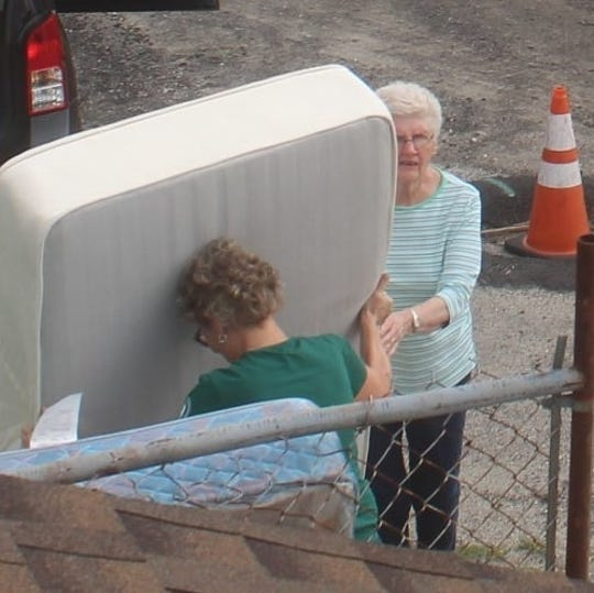 Wildwood police are seeking two women who dumped mattresses outside a recycling facility.
