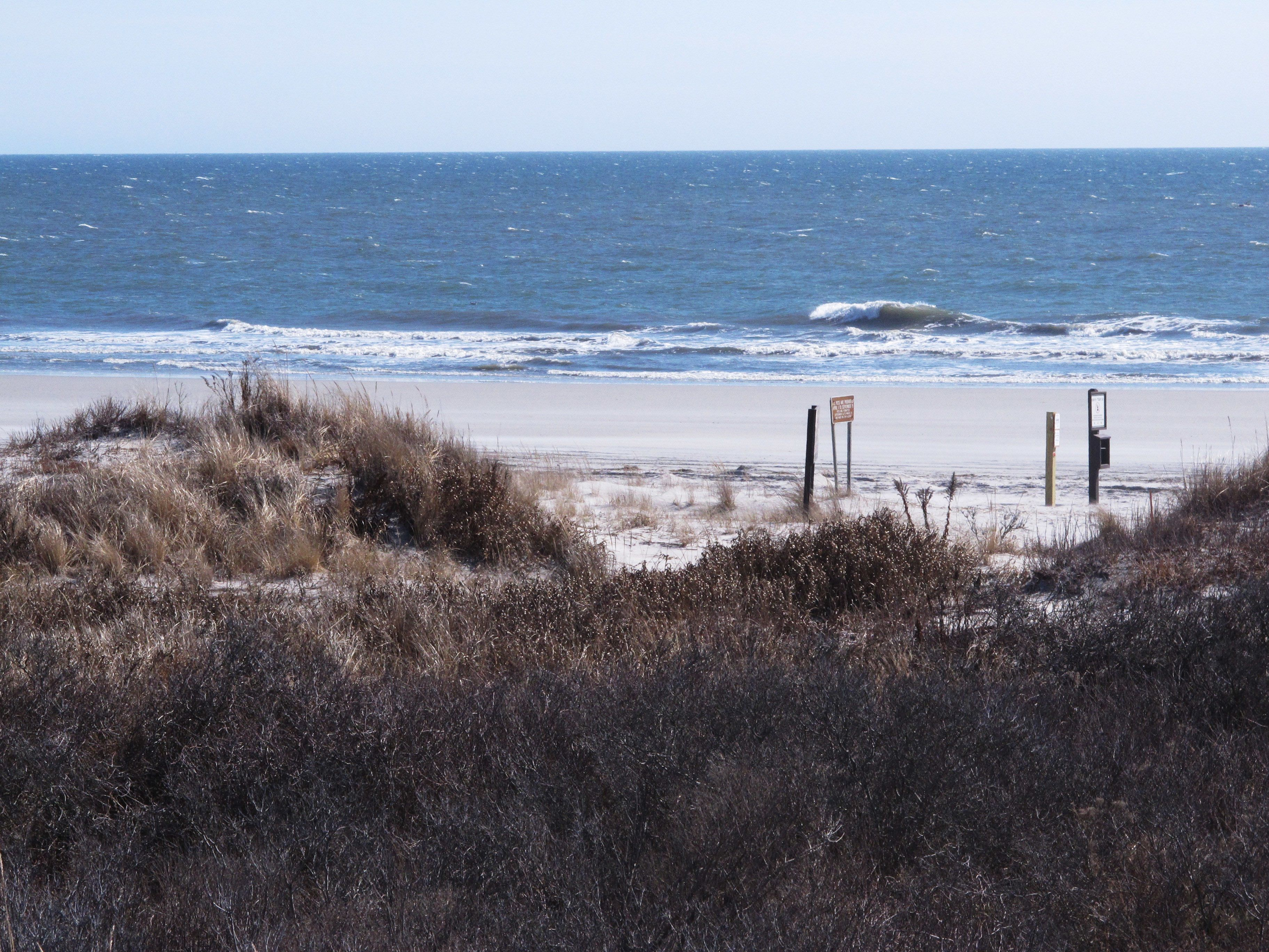 A view of the ocean at Brigantine along the Jersey Shore.