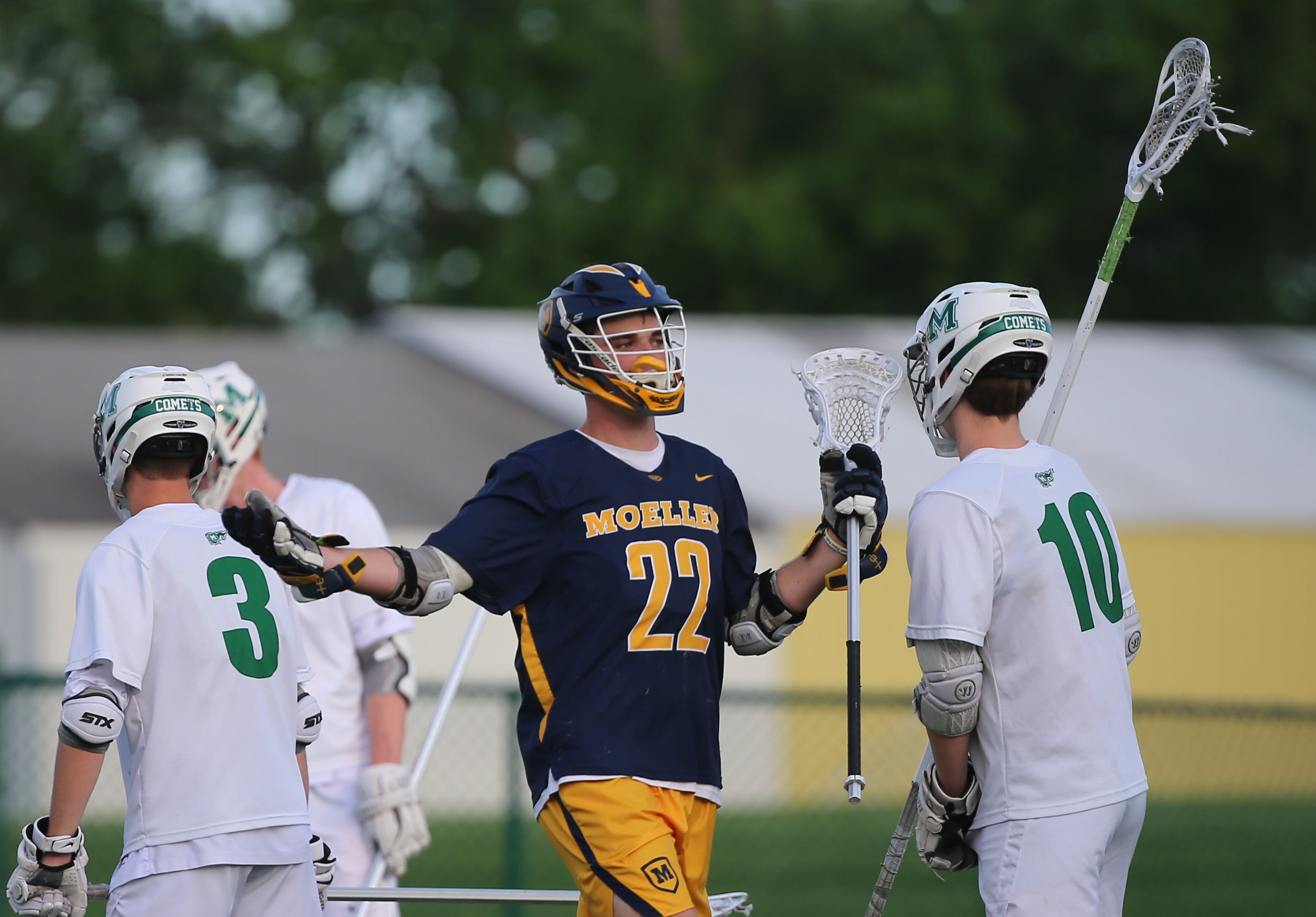 PHOTOS: Moeller lacrosse beats Mason 9-6 in regional semifinals