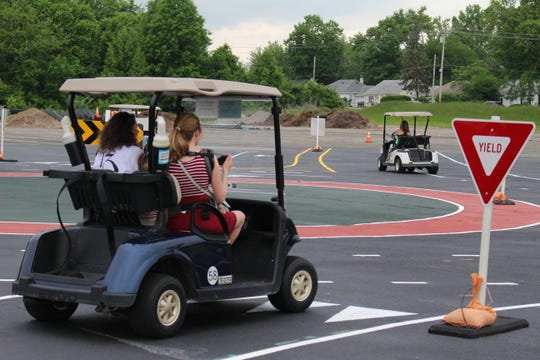 A golf cart roundabout test course in Blue Ash gives people an opportunity to learn the rules of the simple circle without the pressure of traffic.