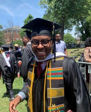 Cameron Cunningham, of Forest Park, is one of 396 Morehouse College graduates who will have their student loans paid for by the family of billionaire Robert F. Smith.