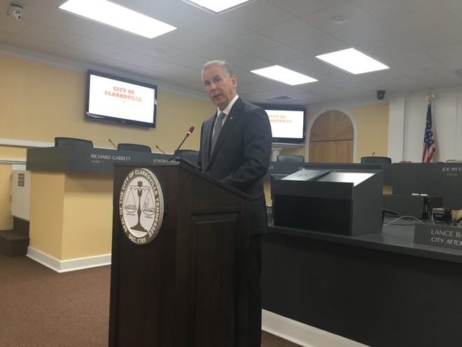 Clarksville Mayor Joe Pitts reveals key details of his first-ever proposed city budget in a news conference Thursday morning.
