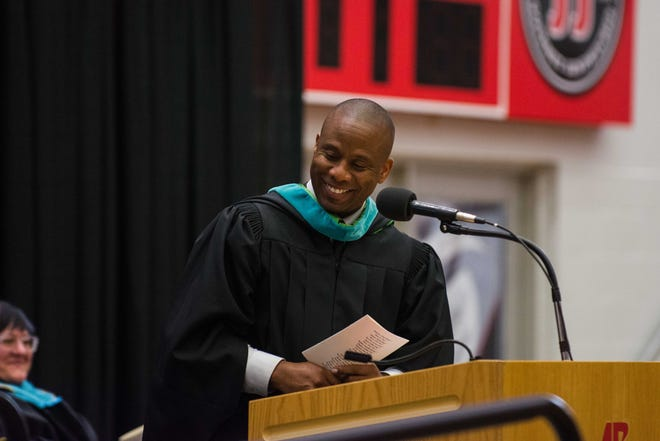 Schools Director Millard House at the Middle College at Austin Peay State University graduation on Thursday, May 23, 2019.