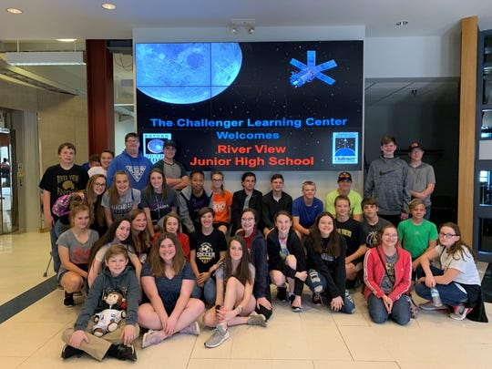 Math students of Molly Bordenkircher of River View Junior High School participated in simulated space mission recently at the Challenger Learning Center at Wheeling Jesuit University.