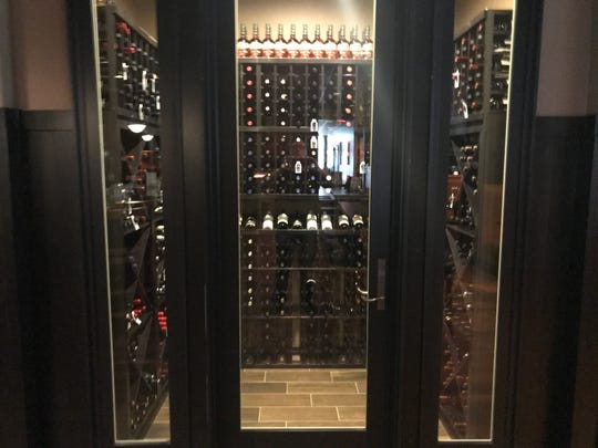 The wine room at Urban Cellar in West Des Moines has 10-foot ceilings.