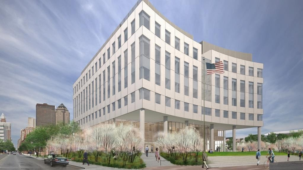 Drawings show federal courthouse concept for downtown Des Moines