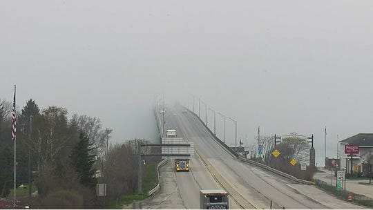 A fog warning was issued early Thursday at the Mackinac Bridge. Photo from May 23, 2019.