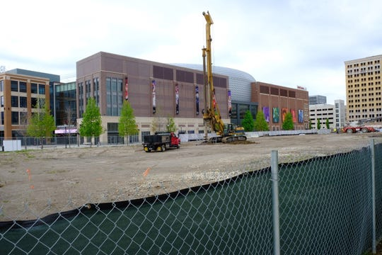 The site at 2715 Woodward Avenue in Detroit began construction Thursday on the 127,000-square-foot facility.