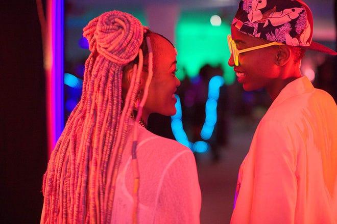 "Samantha Mugatsia and Sheila Munyiva in ""Rafiki."""