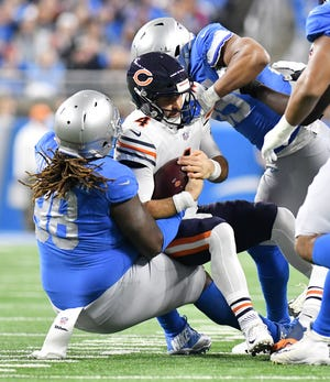Lions defensive tackle Damon Harrison Sr. (98) sat out the team's voluntary OTAs this week.