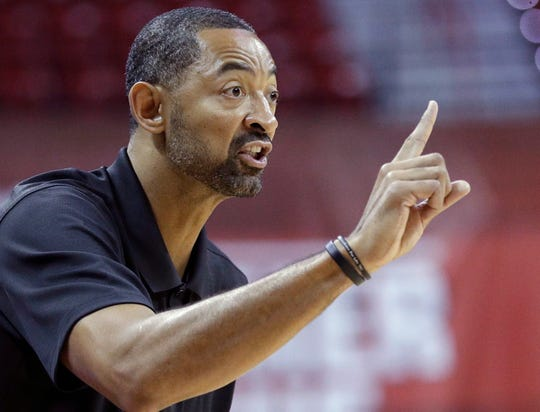 Juwan Howard made the first stop of his summer recruiting tour on Thursday and was part of the throng of college coaches at the National Basketball Players Association Top 100 Camp at the University of Virginia.