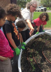Deb Hillebrand, a music teacher at Ferndale's Public Schools Upper Elementary, says gardening helps kids make the connection about where their food comes from.