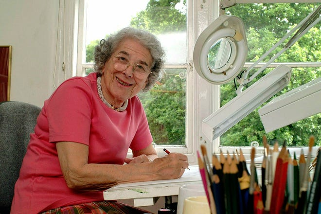 In this May 23, 2003 file photo British writer Judith Kerr sits in her working room in London, England.