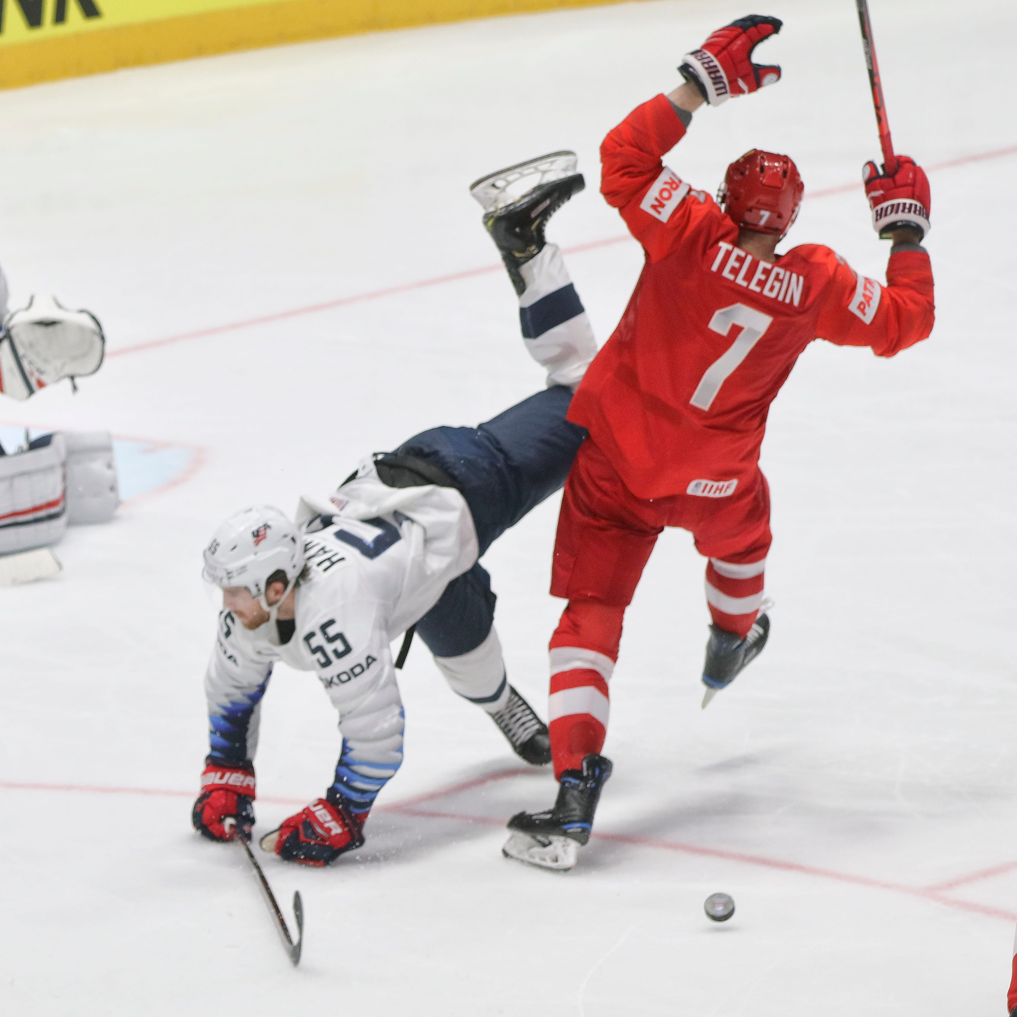 Red Wings' Dylan Larkin out as U.S. eliminated in world hockey championships