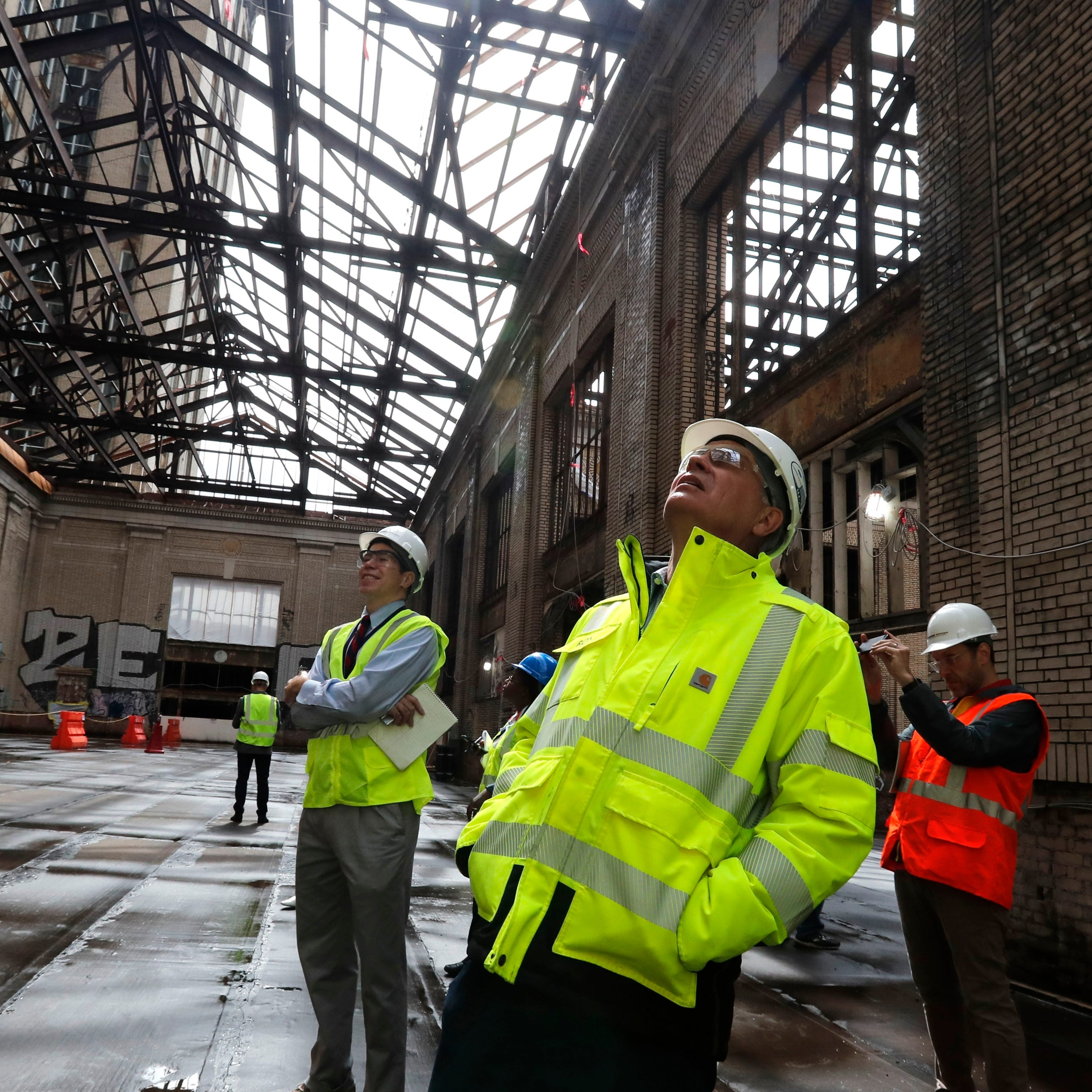 100-year-old discoveries in walls of Michigan Central Depot
