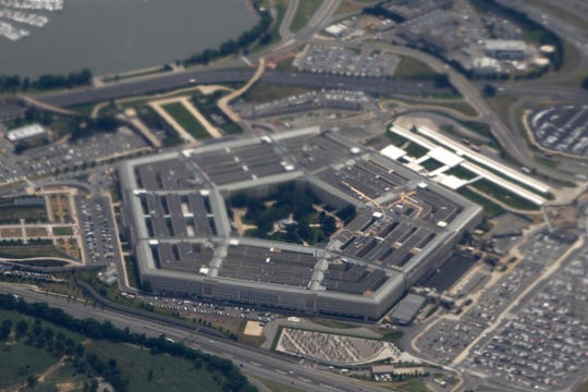 In this June 3, 2011, file photo, the Pentagon is seen from air from Air Force One.