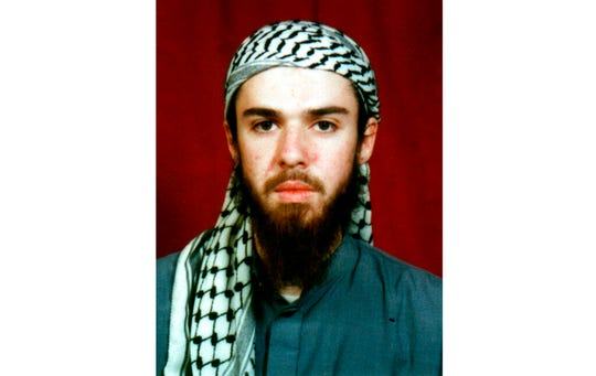 American John Walker Lindh is seen in this undated file photo obtained Tuesday, Jan. 22, 2002, from a religious school where he studied for five months in Bannu, Pakistan.