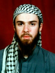 American John Walker Lindh is seen in this undated file photo obtained Tuesday, Jan. 22, 2002, from a religious school where he studied for five months in Bannu, southwest of Islamabad, Pakistan.