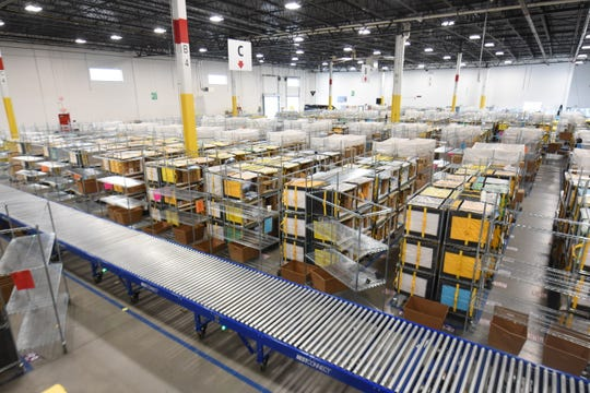 The Amazon delivery station, which opened in November, employs some 400 full-time workers.