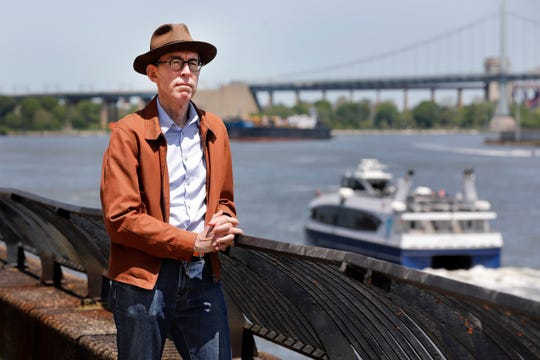 Kevin Kusinitz, a 63-year-old New Yorker who spent years being rejected from jobs for which he felt overqualified following an August 2012 layoff, on New York's East River, Wednesday, May 22, 2019.