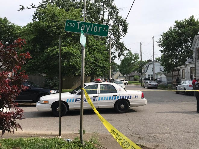 Evansville Police investigate a recent assault at Taylor and Adams avenues. Cars and other new equipment for the police department are included in Mayor Lloyd Winnecke's capital budget request to City Council for 2020.