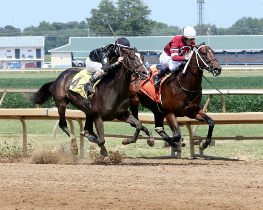 Preakness Stakes runner-up Everfast winning a maiden race at Ellis last summer.