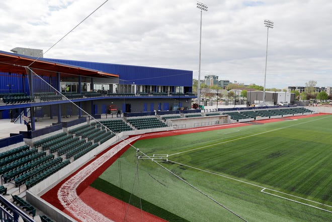 A view of Capital Credit Union Park from the upper deck is shown on Thursday, May 23, 2019, in Ashwaubenon.