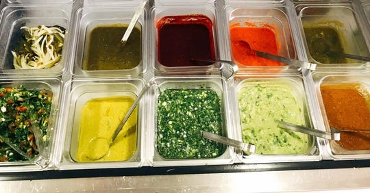 Homemade salsas at Cielito Lindo.