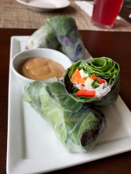 The Summer Rolls at Sun Belly Cafe are a popular menu item.