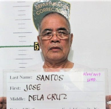 Jose Dela Cruz Santos, 67, charged after allegedly groping and kissing girl
