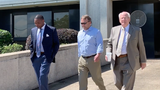 Former Hattiesburg CPA Carl Nicholson leaves federal court after he was sentenced Thursday, May 23, 2019, to five years in prison.