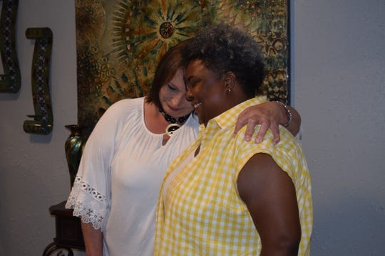 Loretta Bailey and Lashonda Johnson, both of Petal, have bonded over their similar circumstances working with a contractor who allegedly didn't finish work he was paid to do.