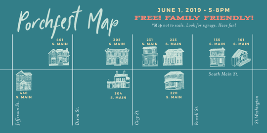 Porchfest 2019 map