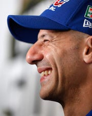 Tony Kanaan (14) of A.J. Foyt Enterprises during media day for the Indianapolis 500 at the Indianapolis Motor Speedway on Thursday, May 23, 2019.