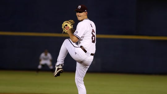 Mississippi State freshman pitcher Brandon Smith pitched a career-high 4.1 innings in his start against LSU in the SEC Tournament.