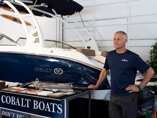 Dave Curmi, general manager at Travis Marine on Wednesday, May 22, 2019.