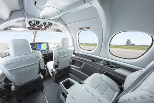 The interior of Cirrus Aircraft's Vision Jet.