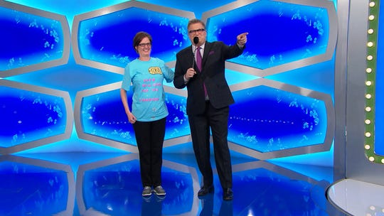 "Gatlinburg's Robin Ring and Drew Carey on ""The Price Is Right."""