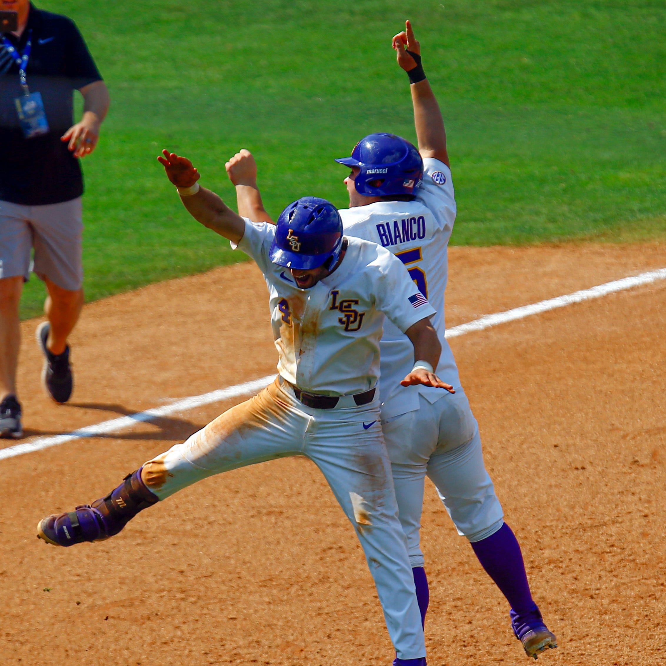 LSU kept running home in wild finish for win, and now it'll be home for NCAA Regional