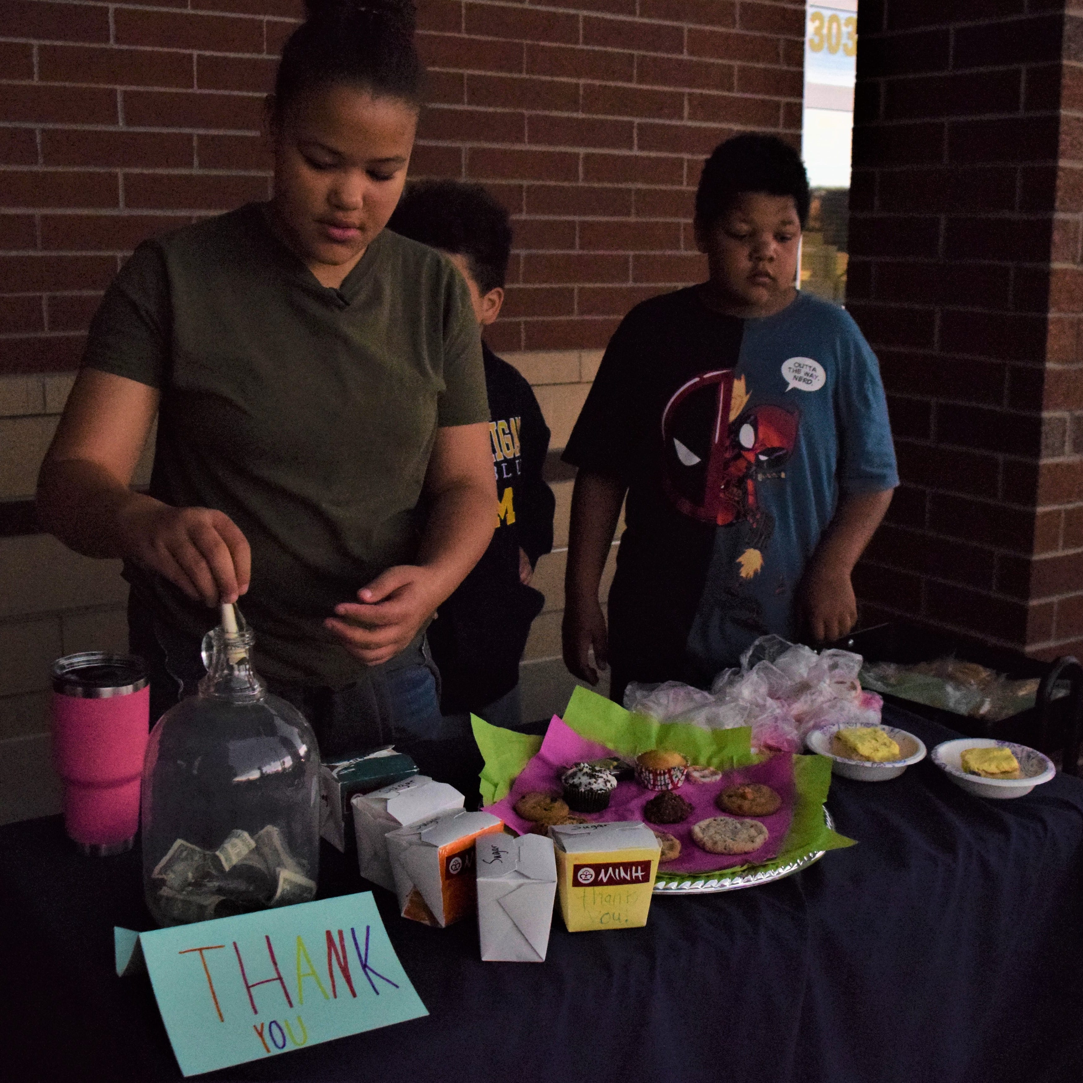 Students lead fundraiser to help pay lunch debt